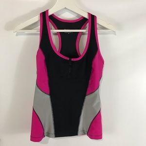 Bebe Sport Yoga Fitness Athletic Top Racer Back PS